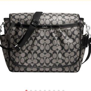Coach Canvas & Leather Diaper Messenger F18373